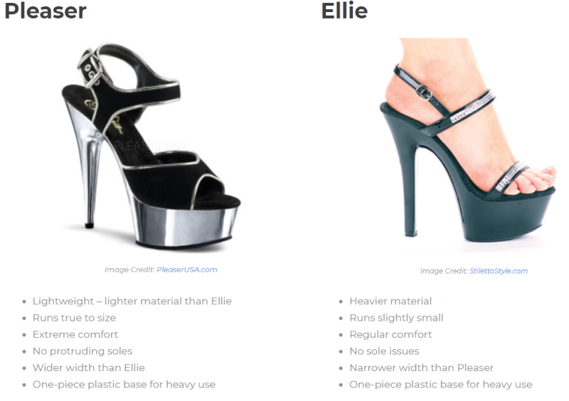 Choosing Your Pole Heels (Size, Style